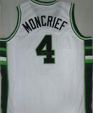 "Bucks SIDNEY MONCRIEF Signed White Custom Jersey AUTO w/ ""5 x NBA All Star"""