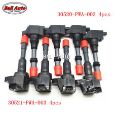 8X Genuine Japan HITACHI Rear And Front Ignition Coil For Honda Civic JAZZ FIT