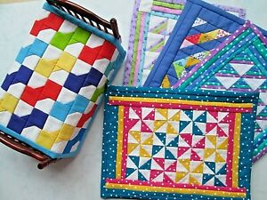 Hand Crafted Dolls House Genuine Patchwork Quilts 1/12th scale - sets B