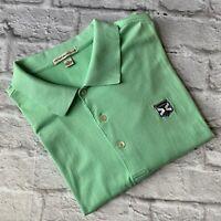 Peter Millar Kinloch Mens Teal Polo Golf Shirt Summer Comfort Size XL EUC