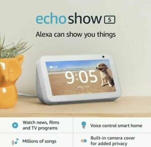 """NEW Amazon Echo Show 5 White Smart Display 5.5"""" Alexa Spotify Sirius More"""