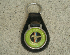 RARE Vtg Ford Mustang MACH II Logo Keychain Key Ring Distress Leather Fob GREEN