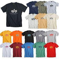 Alpha Industries Basic T-Shirt Shirt black navy white olive grey neue Farben