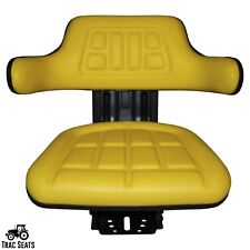 YELLOW JOHN DEERE 840 920 940 TRAC SEATS UNIVERSAL BLACK TRACTOR SUSPENSION SEAT