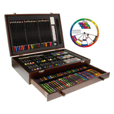 ORIGINAL 142 Piece Art Kit For Kids Artist Studio Portable Wood Box Full Set