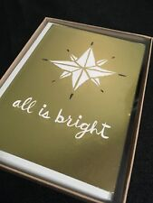 Hallmark Studio Ink Christmas Cards - 1 box of 12 cards  Envelopes - New Bright