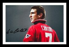 ERIC CANTONA - MANCHESTER UNITED AUTOGRAPHED SIGNED & FRAMED PP POSTER PHOTO 2