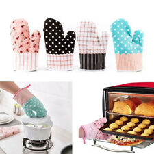 Cute Kitchen Cooking Microwave Oven Gloves Insulated Non-slip Thickening Mitts