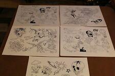"Vintage National Tattoo Flash Robert Benedetti  5 Pages 11"" x 14"" Designer Set 2"