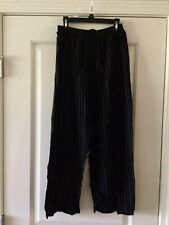 Vintage Byer California Pants Pull On Black Stripe Size Large
