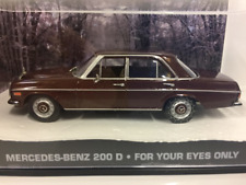 James Bond 007 Mercedes 200D PARA USTED eyes only 1:43 Escala