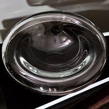 Vintage 1960s Alfredo Barbini Murano Clear Art Glass Round Centerpiece Bowl
