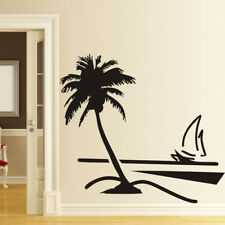 Coconut Tree Boat Room Home Decor Removable Wall Stickers Decals Decoration