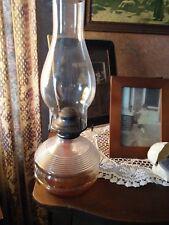 Antique Late 1800s (EAPG) Kerosene Oil Lamp Glass Base Banner Burner