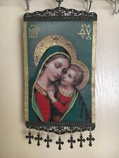 Woven Religious tapestry wall hanging orthodox catholic icon Style 1020
