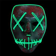 LED Light Up Flashing Skull Mask Skeleton Halloween Rave Party Favor Cosplay