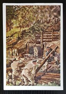 THIRD REICH WW2 ORIGINAL POSTCARD UNSER WEHRMACHT - TECHNICAL UNIT