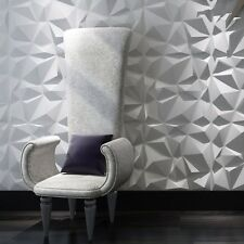 Diamond 3D Textured Wall Panels 12 Pcs 3D Illuminative Wall Covering 32.29 Sq.Ft