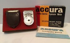 VTG Accura Photo Electric Exposure Meter With Leather Case In Original Box Japan