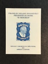 1949 Brazil SC #C76a Franklin D Roosevelt Souvenir Sheet Catalogs $25