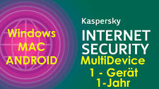 Kaspersky Internet Security MD MAC-WIN-ANDROID+Tablet Smartphone 1-Gerät