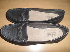 HOTTER SELENA DARK BROWN FLAT LEATHER SHOES SIZE 5.5 STD WORN ONCE