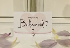 Will You Be My Bridesmaid Maid Honour Flower Girl? Heart Bracelet Gift Card