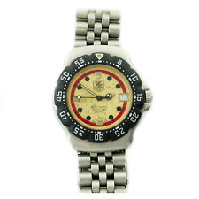 TAG HEUER WA1215 FORMULA 1 BLACK BEZEL+YELLOW DIAL STAINLESS STEEL MIDSIZE WATCH
