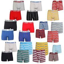 New Mens Tokyo Laundry Keene Sports Striped Plain Boxer Shorts Trunk 2 Pack