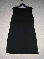Dress & Jacket, Vintage 100% Polyester,. Solid Black by Colesce Couture. M/L