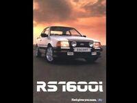 FORD ESCORT MKIII RS1600i DIAMOND WHITE RETRO POSTER PRINT CLASSIC 80s ADVERT A3