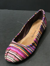 NEW Chinese Laundry Women's Alldone Canvas Multicolor Slip On Flats Size US 6 M