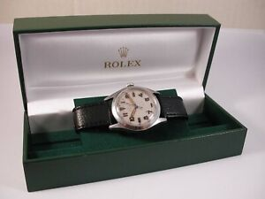 """Full Size 40's Steel Rolex Oyster """"Precision""""Calibre 710 With Box. Just Serviced"""