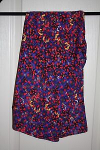 LuLaRoe - Leggings - Purple w/ pink, red, green geom - Size T/C - NEW with tags