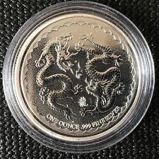 Niue 2018 Double Dragon Pearl of Wisdom 1 oz .999 Silver Coin W/Airtite.