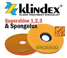 """Klindex Diamond Floor Pad System Set Supershine 1, 2, 3 & Spongelux Soft 17"""""""