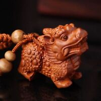 "Pair Chinese sacred Bronze dragon Pixiu statue Lucky bì xié 4.7/""L each"