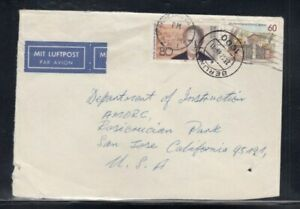WEST BERLIN Commercial Cover Berlin to San Jose 23-12-1986 cancel