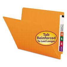 Smead Colored File Folders Straight Cut Reinforced End Tab Letter Orange 100/Box