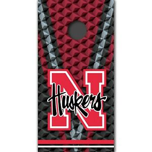 Nebraska Cornhuskers Cornhole Boards Wrap University Decal Custom Vinyl MR352