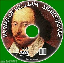 Over 220 Plays Poems Sonnets Obras de William Shakespeare MP3 Audiolibros PC DVD