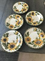 Whole Home PROVENCIAL GARDEN Salad Plate Lot (5) Sunflower Print