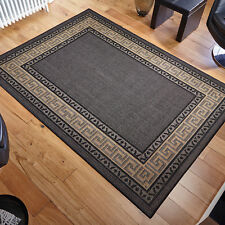 Oriental Weavers Greek Flatweave Rug Runner Modern Anti Slip 100 Polypropylene Black 160 X 225 Cm