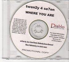 (EX624) Twen2y 4 se7en, Where You Are - 2004 DJ CD