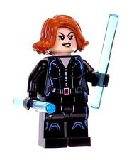 LEGO BLACK WIDOW MINIFIGURE AUTHENTIC Marvel Super Heroes w/ Weapons NEW 76050