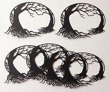 New Entwined Tree Die-cuts (black) pack of 6