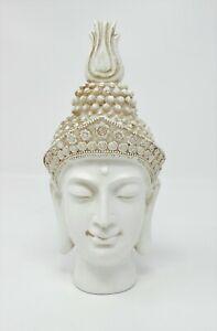 Cream Exotic Art Thai Buddha Head Figure Ornament Statue Buddha New & Boxed Sml