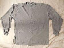 NEW MEN 100% SOFT COMFY COTTON BLUE GRAYISH LONG SLEEVE T-SHIRT STRETCHY XLARGE