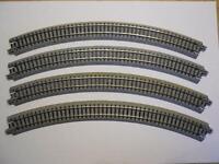 KATO 20-120 gebogenes Gleis R315-45° 4 Stück (34008)