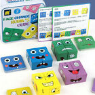 Emoji Cube Wooden Expressions Matching Block Puzzle Building Cubes Geometric Toy